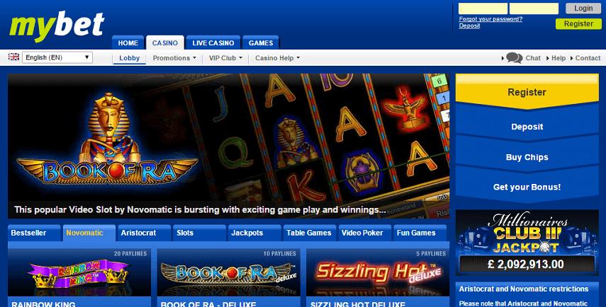 casino lobby book of ra
